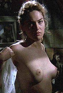 Young Sharon Stone nude boobs in Scissors